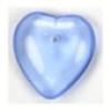 Glass Bead Heart 6X16mm Light Sapphire Strung